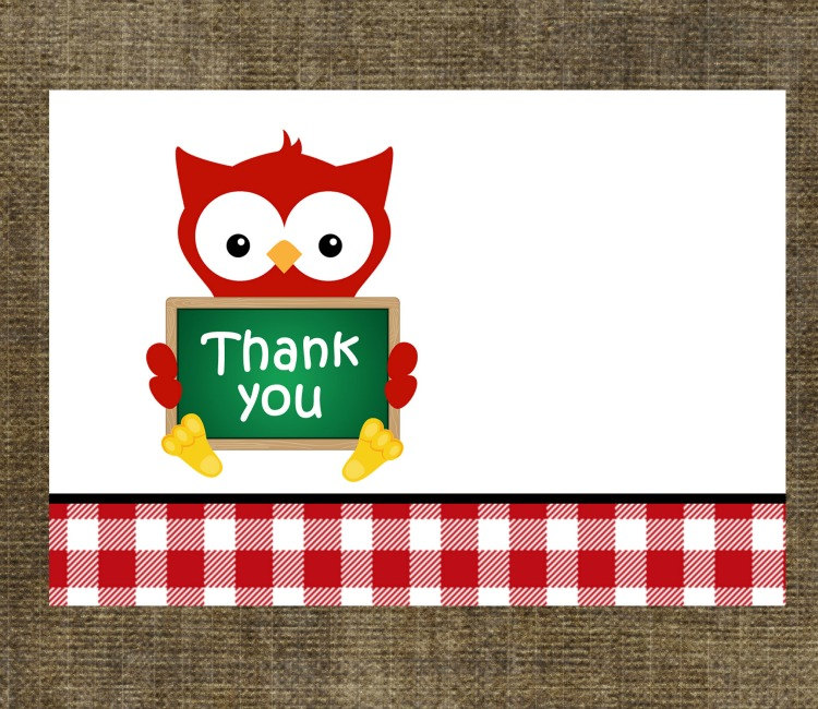 Teacher Gift Thank You Note Cards Set Of 8 On Luulla